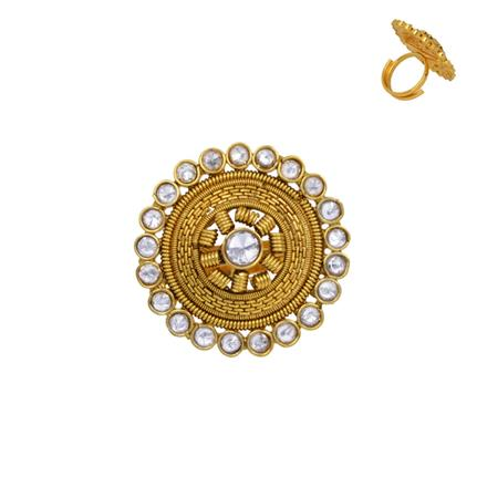 13636 Antique Classic Ring with gold plating