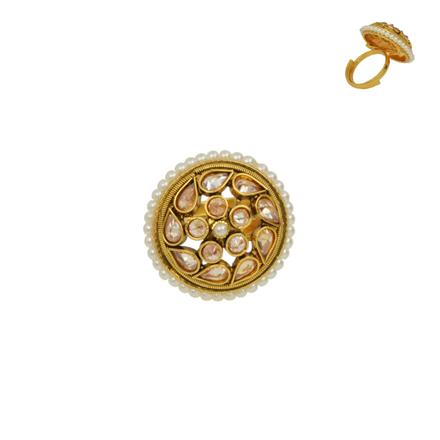 13637 Antique Classic Ring with gold plating