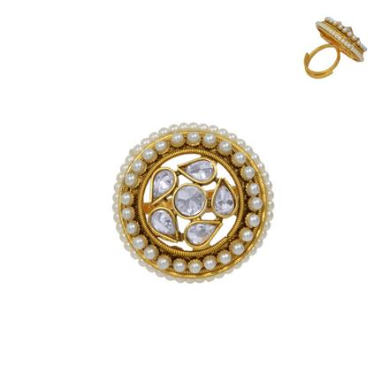 13639 Antique Classic Ring with gold plating