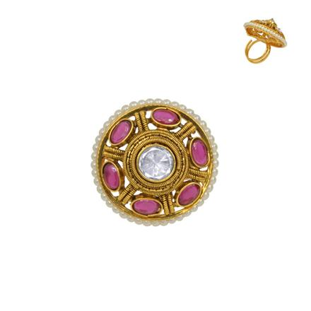 13640 Antique Classic Ring with gold plating