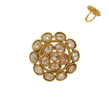 13641 Antique Classic Ring with gold plating