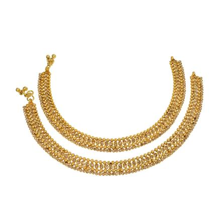 13648 Antique Classic Payal with gold plating