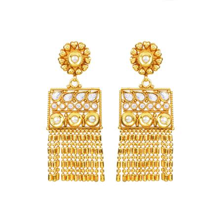 13654 Antique Long Earring with gold plating