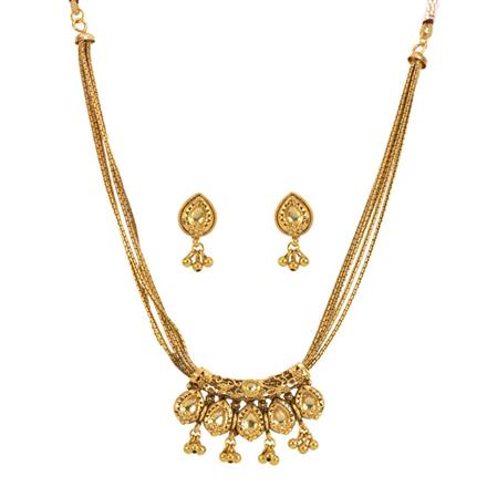 13658 Antique Classic Necklace with gold plating