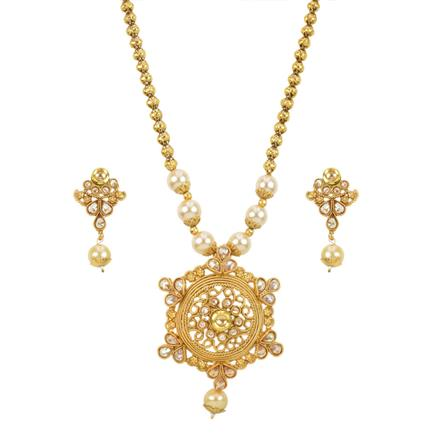13659 Antique Classic Pendant Set with gold plating