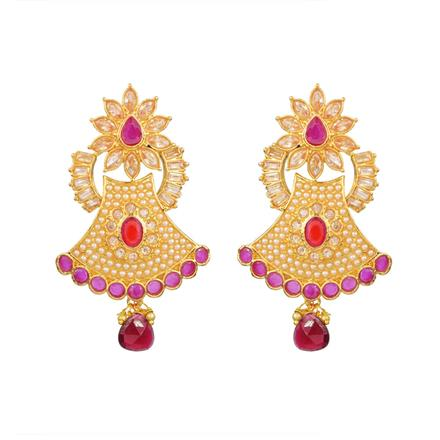 13664 Antique Classic Earring with gold plating