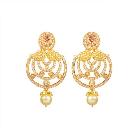 13665 Antique Classic Earring with gold plating