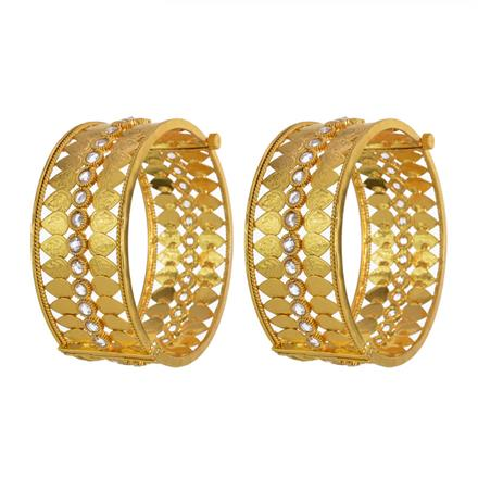 13680 Antique Classic Bangles with gold plating