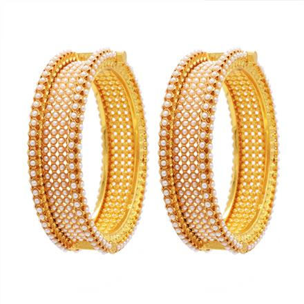 13681 Antique Openable Bangles with gold plating