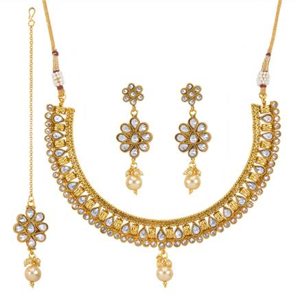 13684 Antique Classic Necklace with gold plating