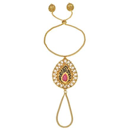 13689 Antique Classic Hath Pan with gold plating
