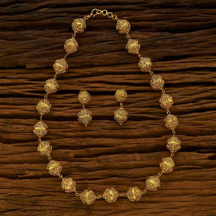 13693 Antique Mala Necklace with gold plating