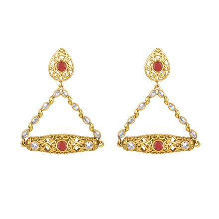 13697 Antique Classic Earring with gold plating