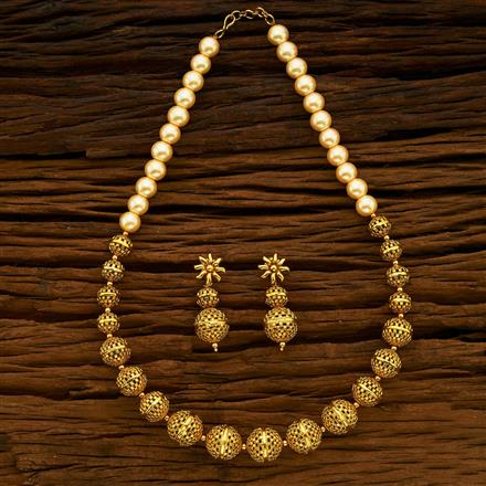 13700 Antique Mala Necklace with gold plating