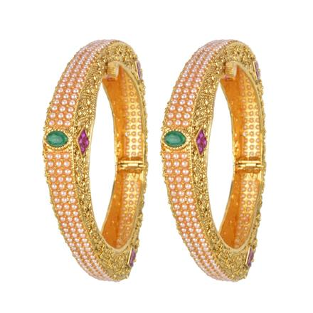 13704 Antique Classic Bangles with gold plating