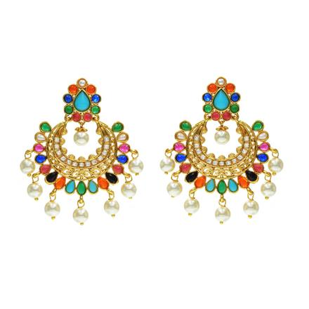 13705 Antique Classic Earring with gold plating