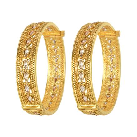 13706 Antique Classic Bangles with gold plating