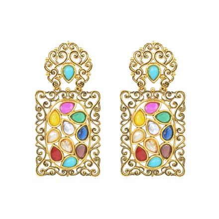 13707 Antique Classic Earring with gold plating