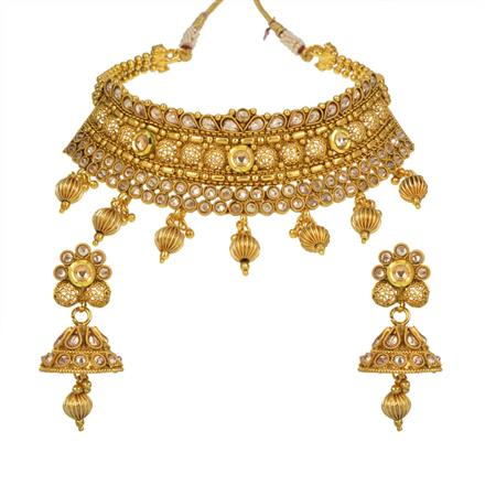 13715 Antique Choker Necklace with gold plating