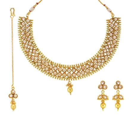 13716 Antique Classic Necklace with gold plating