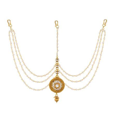 13721 Antique Classic Damini with gold plating
