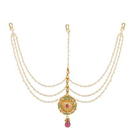 13722 Antique Classic Damini with gold plating