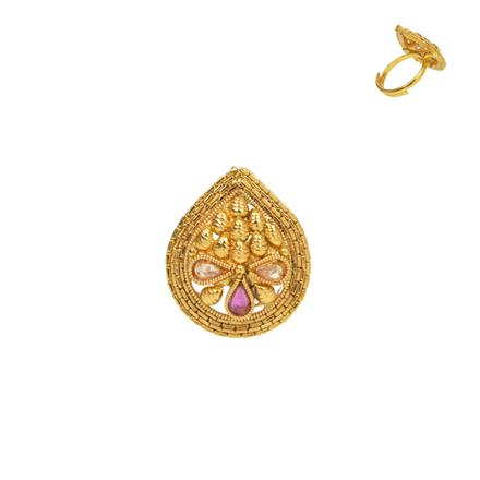 13724 Antique Classic Ring with gold plating