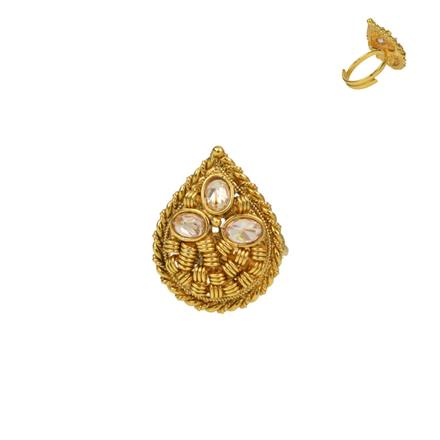 13725 Antique Classic Ring with gold plating