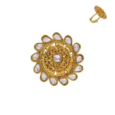 13726 Antique Classic Ring with gold plating