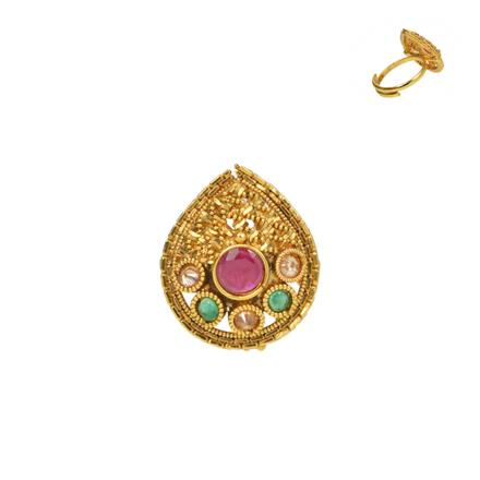 13727 Antique Classic Ring with gold plating