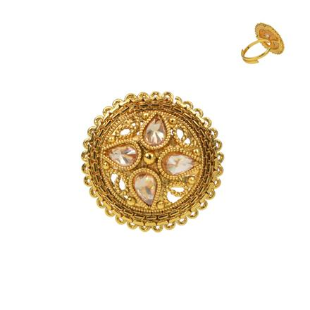 13728 Antique Classic Ring with gold plating