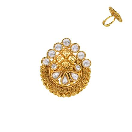 13729 Antique Classic Ring with gold plating