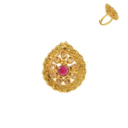 13730 Antique Classic Ring with gold plating
