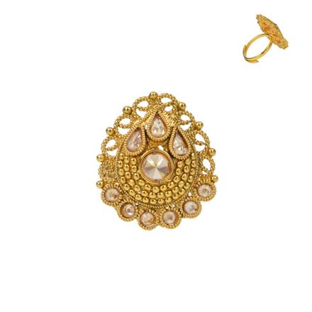 13731 Antique Classic Ring with gold plating