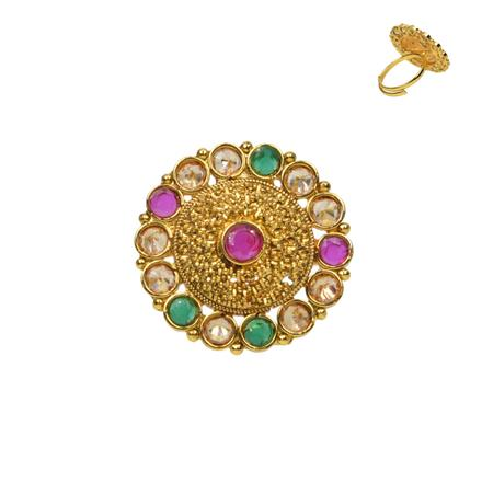 13732 Antique Classic Ring with gold plating