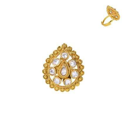 13733 Antique Classic Ring with gold plating