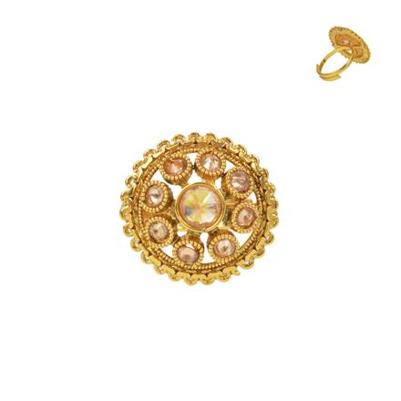 13734 Antique Classic Ring with gold plating