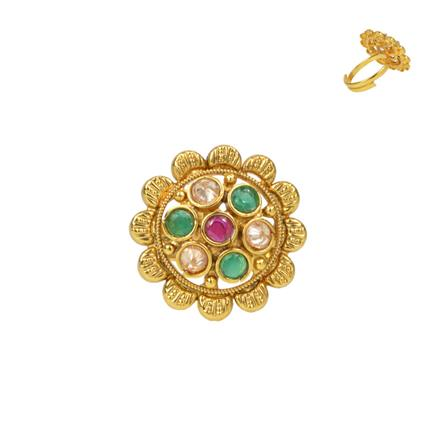 13735 Antique Classic Ring with gold plating