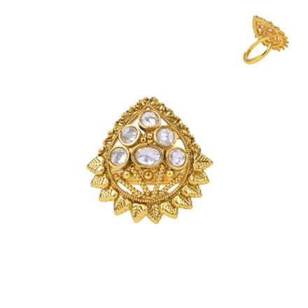 13736 Antique Classic Ring with gold plating