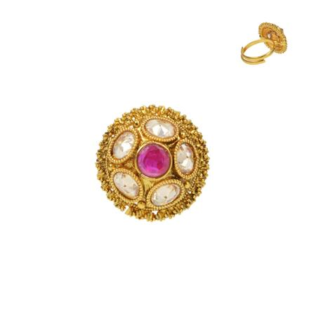 13737 Antique Classic Ring with gold plating