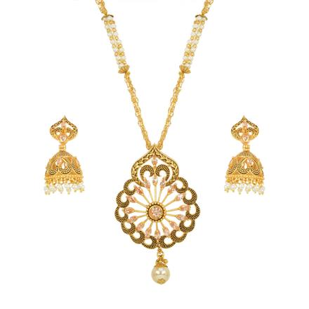 13741 Antique Classic Pendant Set with gold plating