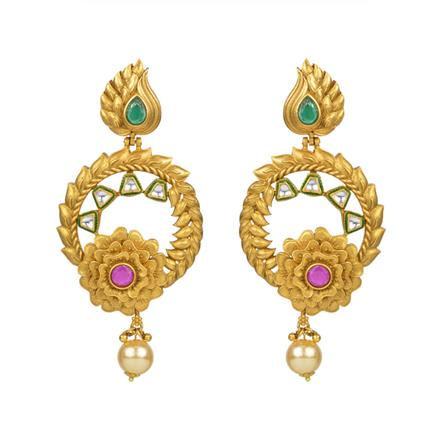 13742 Antique Classic Earring with gold plating