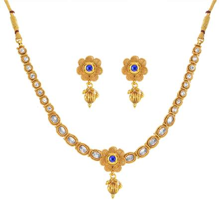 13745 Antique Delicate Necklace with gold plating