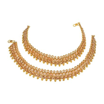 13753 Antique Classic Payal with gold plating