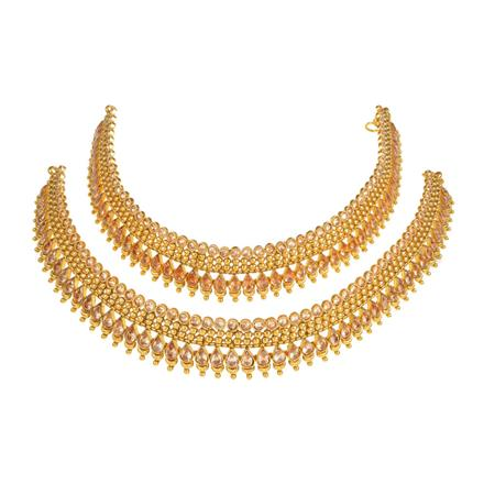 13755 Antique Classic Payal with gold plating