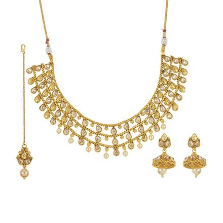 13765 Antique Classic Necklace with gold plating