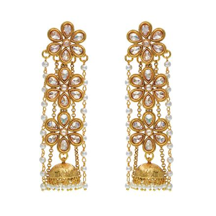13767 Antique Long Earring with gold plating