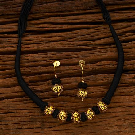 13777 Antique Mala Necklace with gold plating