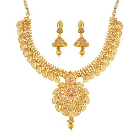 13781 Antique Classic Necklace with gold plating