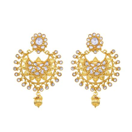 13807 Antique Classic Earring with gold plating